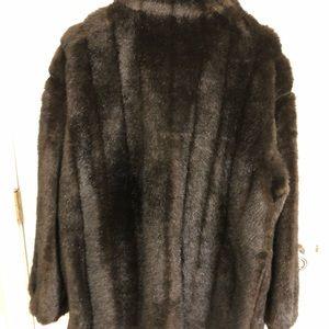 Jackets & Coats - Faux Fur Mink Jacket, Reversible, Size 16
